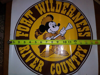 "Unique Large Disney World Fort Wilderness Decal 16"" Not a Souvenir sold in store"