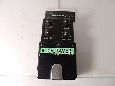 Vintage Pearl Octaver OC-07 Octave Effects Pedal Rare Free USA Shipping