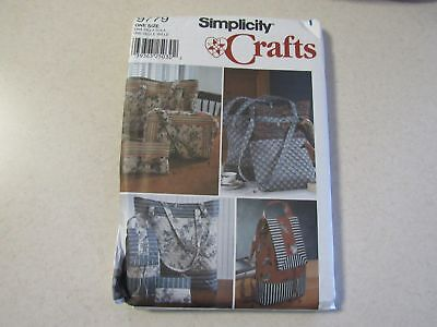 Simplicity Crafts Tote Bags Backpack Purse Sewing Pattern #9779 Uncut