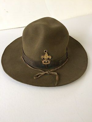 """Vintage Boy Scout Hat"""" No Rip's,or Tear,holes..condition Good For Age"""