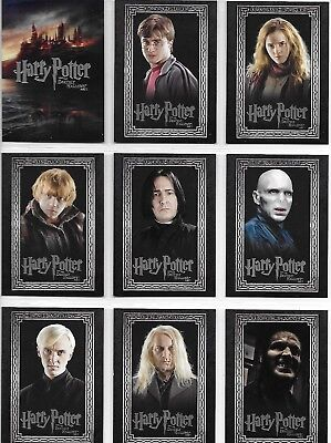 Harry Potter and the Deathly Hallows Part 1 1-90 Complete Base Card Set 2010
