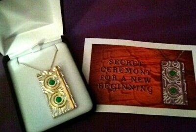 Ceremony for New beginnings MY HWH Pendant NECKLACE 925 & Gold plate NWT
