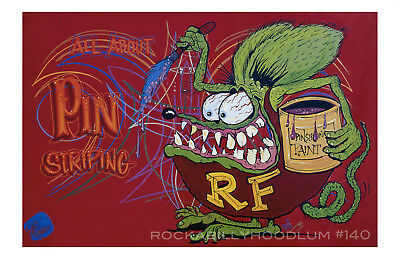 New Hot Rod Poster 11x17 Ed Big Daddy Roth All About Pinstriping rat Fink