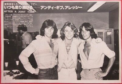 ANDY GIBB & Alessi Brothers 1978 CLIPPING JAPAN MAGAZINE CUTTING U1 T15