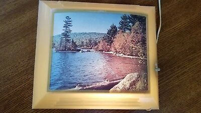 Vintage Helmscene Lighted Picture Fulton Lake No. 88 GUC