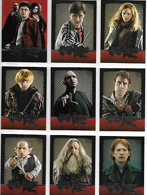 Harry Potter and the Deathly Hallows Part 2 Complete 54 Card Base Set 2011