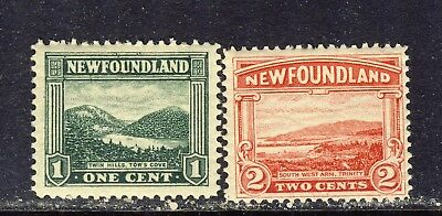 1923-1924 Newfoundland #131 1¢ & #132 2¢ Pictorial Issue F-Vfnh