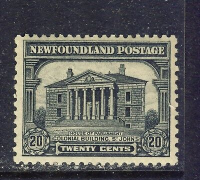 1928 Newfoundland #157 20¢ Colonial Building St John's Pictorial Issue-1 F-Vfnh