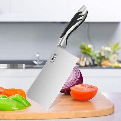 Raskyee Pro Kitchen Chef Knife Meat Cleaver High Carbon German Stainless Steel