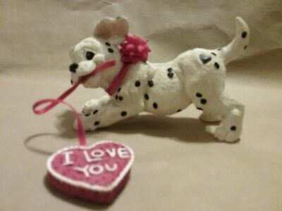 Enesco Dalmatian by Kathy Wise Vintage Ribbon in mouth I Love You