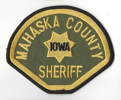 Mahaska County IA Iowa Sheriff patch - NEW!