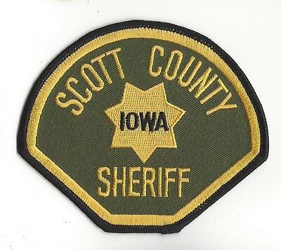 Scott County IA Iowa Sheriff patch - NEW!