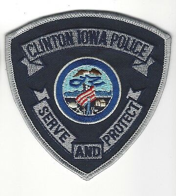 Clinton (Clinton County) IA Iowa Police patch - NEW! *Cloth Back*