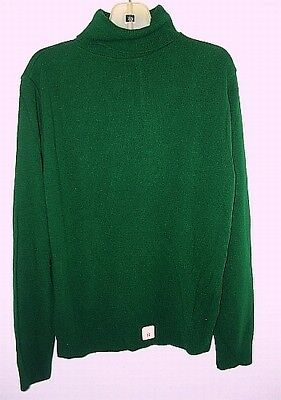 Dark Green Turtleneck Sweater Girls 12 Christmas Holiday turtle neck Vintage NEW