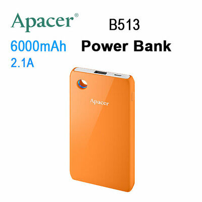 LED APACER Mobile Power Bank B513 6000mAh Orange