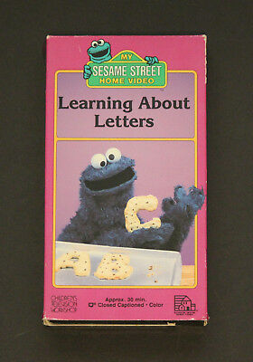 sesame street learning about letters vhs sesame learning about letters vhs 1986 4 50 10883