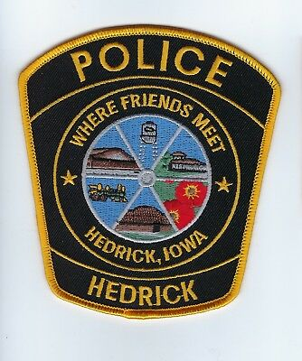 Hedrick (Keokuk County) IA Iowa Police patch - NEW!