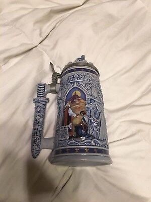 Vintage Beer Stein Avon Knights Of the Realm Lidded #52282 King Arthur 1995