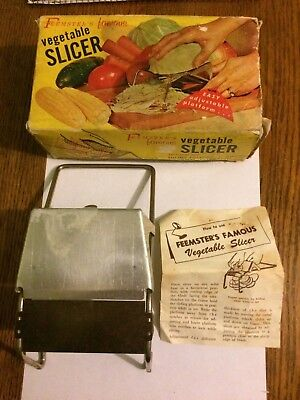 Vintage Kitchen Item Feemster's Slicer In Box With Instructions Farm House Find