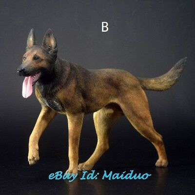 1/6 Scale Belgian Malinois Statue Dog Model Resin Garage Kit Accessories 5''H