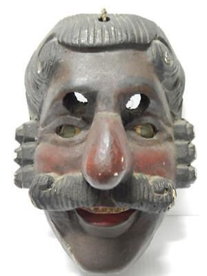 ANTIQUE / vintage MEXICAN MEXICO WOOD DANCE PORTRAIT MASK early example - NR