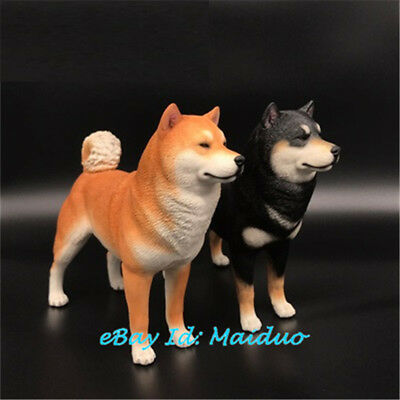 Shiba Inu Statue Dog Model Resin Garage Kit Accessories 6.5''H Decorations New