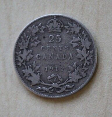 Canada 25 Cents 1912