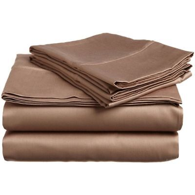 Elastic All Around Fits Fitted Sheet Burgundy Solid All Deep Pkts /& Size 1000 TC