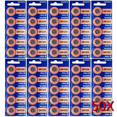 CR 1220 SONY LITHIUM BATTERIES (50 piece) 3V Watch New USA Seller Exp:2027