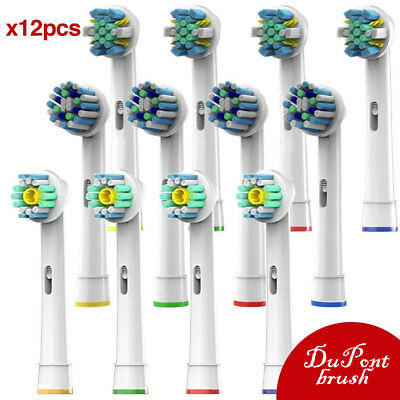 12PCS Electric Tooth brush Heads Replacement for Braun Oral B vitality triumph