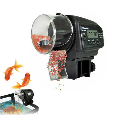 Digital Automatic Aquarium Tank Fish Food Feeder Timer +User Manual+Double Stick