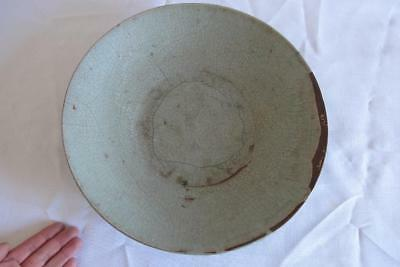 Large Antique Chinese Song Dynasty Type Guan Glaze Plate – ex. Shipwreck
