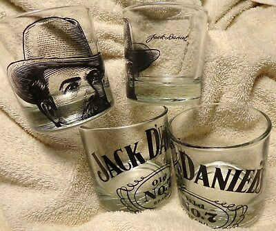 "Set of 4 Jack Daniel's ""Old No.7"" Rocks or Drink Glasses - 8 Ounce Glasses...NEW"
