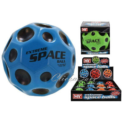 2 x Super Space Very High Bouncy Balls Throwing Craze Catch Fast Spin Kids Toy