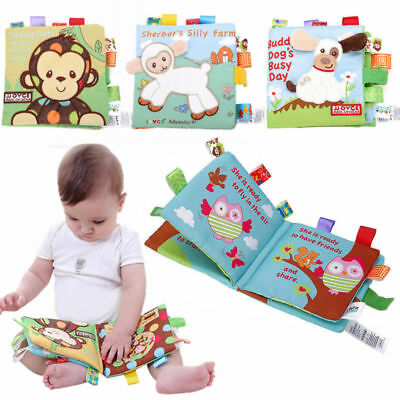 Soft Cloth Book Baby Toy Early Learning Education Animals Book Infant Toys 1PCS