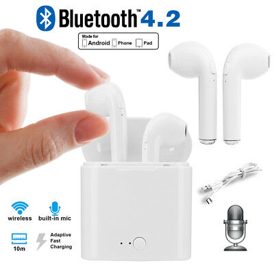 Wireless Bluetooth Earbuds Headset In Ear Dual Earphone for iPhone X 8 7 Samsung