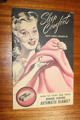 Vintage 1947 General Electric (GE) Automatic Blanket - Owner's Manual