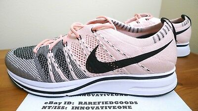 4eef72f481ce ... new style nike flyknit trainer sunset tint pink black white sz 8 mens  or 9.5 womens