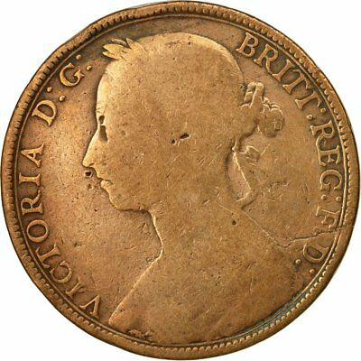 [#546163] Coin, Great Britain, Victoria, Penny, 1891, VF(20-25), Bronze, KM:755