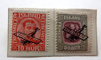 1928/29 Iceland Air Post stamps with overprint very nice