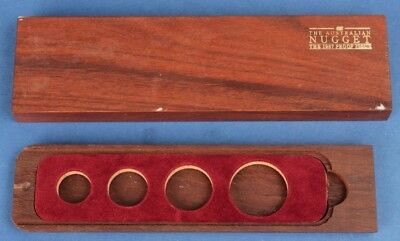 Australia: 1987 Gold Nugget Proof Set Deluxe Wooden Empty Case. (no coin)