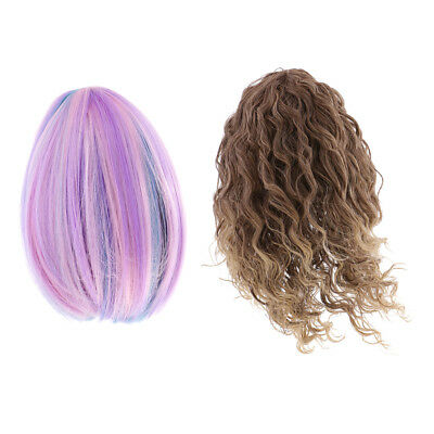 Custom Curly/Straight Hair Wig for 18'' American Girl Dolls DIY Making Accs