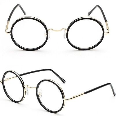 Round Clear Lens Fashion Glasses High Quality With Spring Hinges 45mm Lens