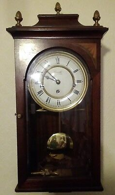 Comitti of London Wind-Up Pendulum wall clock with Westminster Chimes