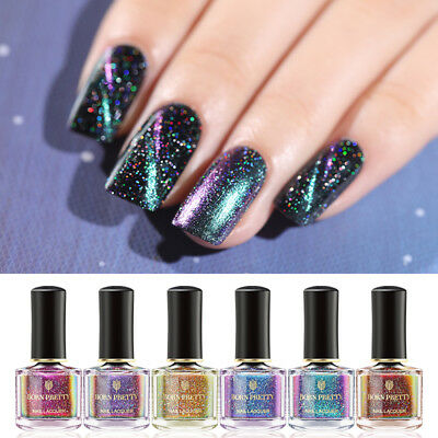 BORN PRETTY 6ml CatEye Nail Polish Holographic Chameleon  Varnish Decor