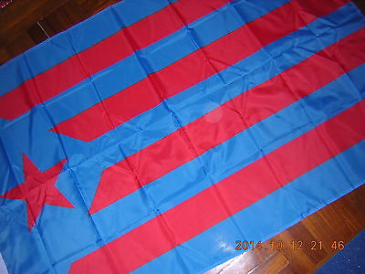 Flag of Catalonia Catalan independentism Blue Red Spain Barcelona Ensign 3X5ft