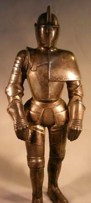 ANTIQUE BLACK KNIGHT STATUE AND LIGHTER, 1950's