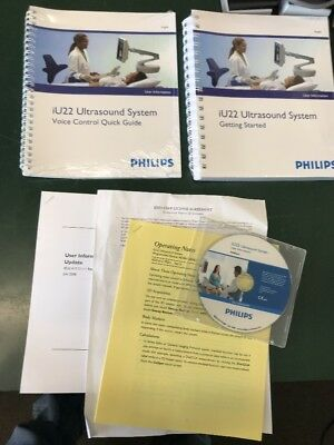 Philips IU22 Ultrasound System User Information Manual Book CD