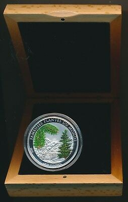 Benin: 2010 100 Fr Christmas Tree Coloured Proof Like w Scent, 27g 38.61mm