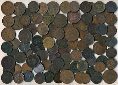 92 Old Canada Coppers (Interesting Early Coins & Tokens >> Must See) No Reserve